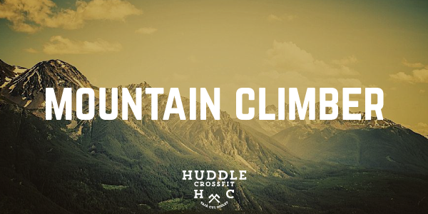 mountain climber visual huddle crossfit