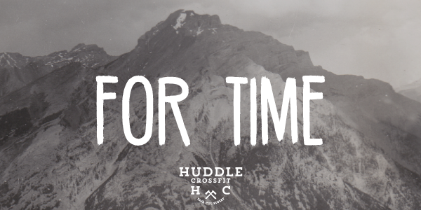 for time visual huddle crossfit
