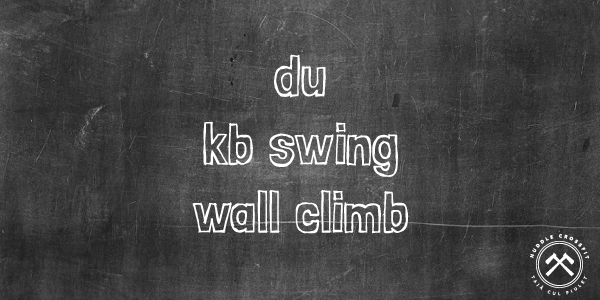 double unders kettlebel swing wall climb visual huddle crossfit
