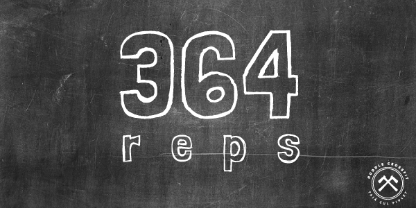 364 reps visual huddle crossfit